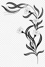 big image flower vine clipart black and white 241072