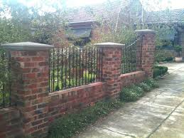 metal fence ideas. Contemporary Ideas Brick Column Fence Metal With Best Ideas On  Columns Post For
