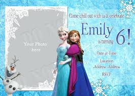 make your own frozen invitations handmade frozen party invitations awesome homemade frozen birthday