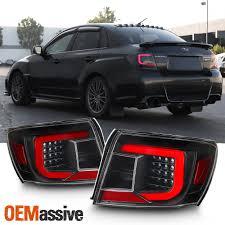 2019 Upgrade For 08 11 Subaru Impreza Wrx Led Taillights Bar Housing Black
