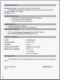 Simple Resume Format For Freshers Doc Meigenn Com