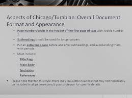 writing style overview mla apa chicago turabian ppt video aspects of chicago turabian overall document format and appearance