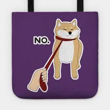 shiba inu dog no funny design art gift for dog tote