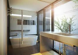 View in gallery Minimalist white Japanese contemporary bathroom