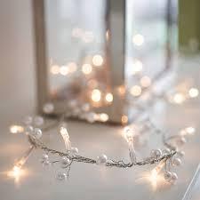 Beaded Fairy Lights Pearl Beaded Fairy Light Garland Fairy Lights Fairy