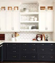 kitchens with black cabinets. Classic Traditional Style Two Toned Kitchen With Black And White Cabinets, Open Shelving, Kitchens Cabinets
