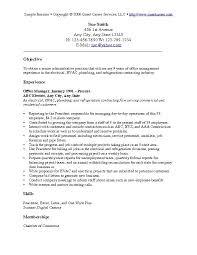job objective general. sample resume objective ...