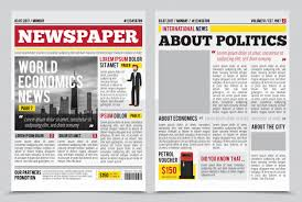 Newspaper Articles Template Daily Newspaper Journal Design Template With Two Page