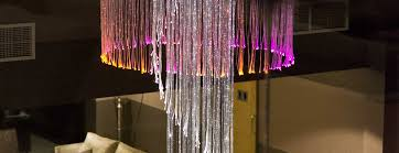 fiber optic chandelier in the inflite jet centre