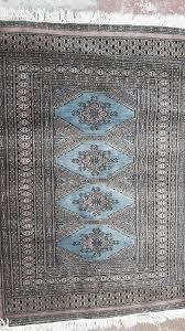 carpet persian geometric blue red 1 20m x 0 80m