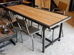 Table salle a manger fer et bois table et chaises salle à manger ...