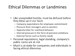 ethics ethical dilemmas