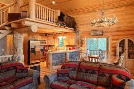 Log cabin interiors designs Kitchen Classic Log Interior With Touch Of Stone Steel Log Siding 27 Log Cabin Interior Design Ideas Trulog Siding