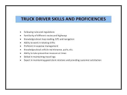 14 New Cdl Truck Driver Job Description For Resume Stock