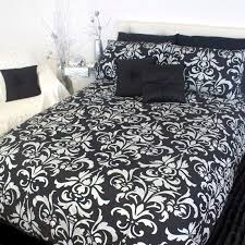 damask silver black white blue king queen quilt doona duvet cover