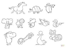 Bebes Pages A Colorier Cute Baby Zoo Animals Coloring Pages