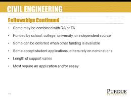 purdue university civil engineering funding your graduate school  10 civil engineering