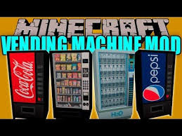 Vending Machine Mod Unique Minecraft VENDING MACHINES COKE PEPSI SNACKS PHARMACY MORE