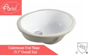 19 1 2 inch porcelain ceramic vanity undermount bathroom vessel sink