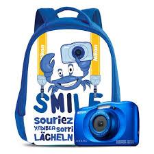 Цифровой фотоаппарат <b>Nikon</b> Coolpix W150 <b>Blue</b> Backpack Kit ...