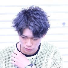 メンズのダークブルーアッシュが2018夏流行る髪型です Mio