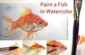 art tutorial paint a fish in watercolor by taho