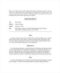 Memo Template For Google Docs Legal Memorandum Template