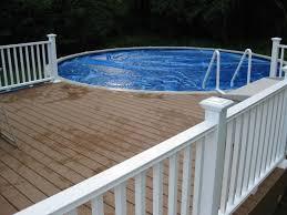 above ground round pool with deck. Stunning Backyard Decoration Using Round Pool Deck Design : Artistic  Picture Of And Above Ground Round Pool With Deck Y