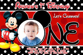 baby mickey mouse invitations birthday party and birthday invitation mickey mouse invitation template free
