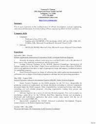 J2ee Professional Resume Sample Resume For Java J24ee Developer Luxury Software Engineer 11