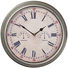 outdoor wall clock with temperature and humidity