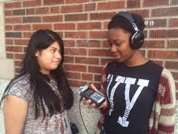 group zumix radio caption leslie being interviewed by tyesha