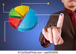 Click Chart Diagram Businessman Click Pie Diagram Chart
