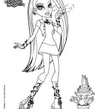 Small Picture Coloring Pages Of Monster High Pictures Coloring Filminspector adult