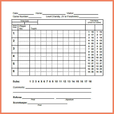 Volleyball Score Sheet Resume Bio Example Amazing Resume Score
