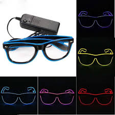 Neon Light Glasses Us 3 83 29 Off Quality Fashion Top El Wire Neon Light Up Shutter New Arrival Glow Led Glasses Rave Costume Party Bright Sunglasses 6 Color In