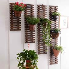 plant stand solid wood hanging wall