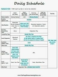 Daily Homeschool Schedule Template Creating A Daily Homeschool Schedule For Multiple Young Children