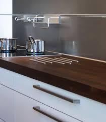 Kitchen Stainless Steel Backsplash A Kitchen In Copenhagens Hth Showroom Shows Interesting Details