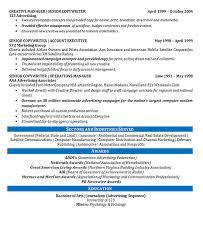 Creative Director Resume Example Copywriter Marketing Impressive Copywriter Resume