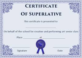 Superlative Certificate Superlative Certificate Template 10 Certificate Designs To Use For