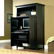 office armoire. Home Office Armoire. Computer Desks:Hidden Desk Armoire Innovative Small Space Wooden Large D