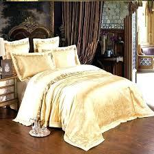 gold silk bedding set satin duvet covers gold duvet covers set jacquard silk bedding set luxury