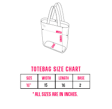 Tote Bag Size Chart Hope Tote Bag