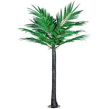 lighted palm trees for patio 8 led deluxe commercial lighted palm tree