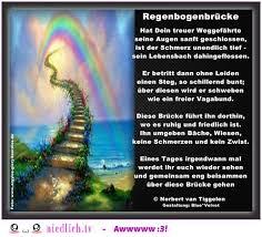 Regenbogenbrücke über Die Regenbogenbrücke Traurige Gedichte Von