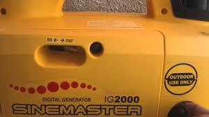 Generac Ix2000 Overload Light Stays On Kipor Generator Start Problem Ignition Switch Blocked By