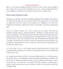Music Personal Statement Music Personal Statement Examples Before After Editing