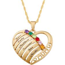 personalized planet jewelry family jewelry personalized mother s mother birthstone name heart necklace 20 com