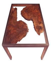 Burl Coffee Tables Custom Walnut Burl Side Table By Steelhead Studios Custommadecom